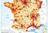 Map Of France with Cities In English France Population Density and Cities by Cecile Metayer Map France