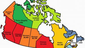 Map Of French Speaking Canada This Map Shows the Most Popular Language In Each Province