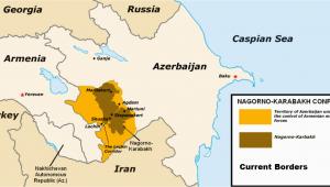 Map Of Georgia Armenia and Azerbaijan Nagorno Karabakh Conflict Wikipedia