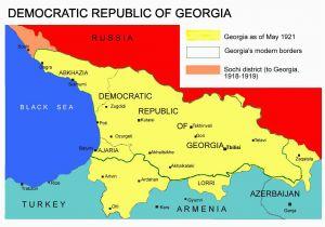 Map Of Georgia Republic sochi Conflict Wikipedia