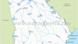 Map Of Georgia Rivers Georgia Lakes Map Luxury Usa Rivers and Lakes Map Map Usa Rivers and