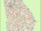 Map Of Georgia Showing Counties Georgia Road Map with Cities and towns