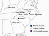 Map Of Georgia Tech atlantic Coast Conference Wikipedia