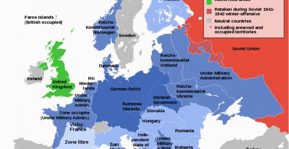 Map Of German Occupied Europe German Occupied Europe Wikipedia World War Ii World