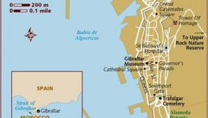 Map Of Gibraltar and Spain Large Gibraltar Maps for Free Download and Print High