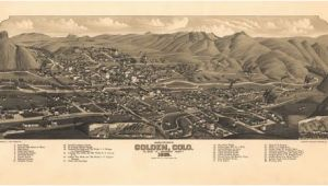 Map Of Golden Colorado Historic Map Golden Co 1882 Maps Pinterest Colorado