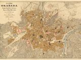 Map Of Granada Province Spain Granada Map Old Map Of Granada Print On Paper or Canvas