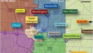 Map Of Granville Ohio Columbus Neighborhoods Columbus Oh Pinterest Ohio the