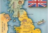 Map Of Great Britain and France Postcard A La Carte 2 United Kingdom Map Postcards Uk