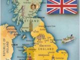 Map Of Great Britain Scotland and Ireland Postcard A La Carte 2 United Kingdom Map Postcards Uk Map Of