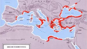 Map Of Greece and Spain Another Map Of Greek Colonization Research for Medea