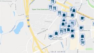 Map Of Greensboro north Carolina 5711 Bramblegate Road Greensboro Nc Walk Score