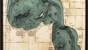 Map Of Higgins Lake Michigan Bathymetric Map Higgins Lake Michigan Scrimshaw Gallery