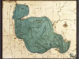 Map Of Higgins Lake Michigan Bathymetric Maps Michigan Scrimshaw Gallery
