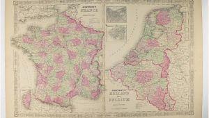 Map Of Holland and France original Antique France Map Holland Map Belgium Netherlands Map