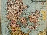 Map Of Iceland and Europe 1921 Map Of Denmark with Insets Of Iceland Faroe islands