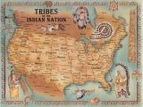 Map Of Indian Tribes In Texas Tribes Of the Indian Nation I Have Two Very Large Maps Framed On My