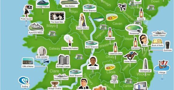 Map Of Ireland attractions Map Of Ireland Ireland Trip to Ireland In 2019 Ireland
