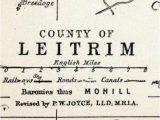 Map Of Ireland Leitrim 1902 Antique Map Of County Leitrim Ireland Travel Ireland