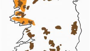 Map Of Ireland Mountain Ranges Blanket Bogs Of Ireland Factsheetirish Peatland Conservation Council