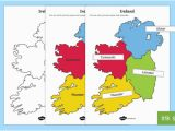 Map Of Ireland Provinces Build Ireland Provinces and Counties Jigsaw Worksheet Activity Sheets