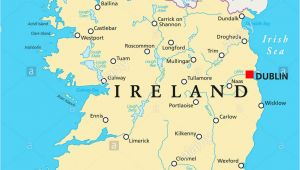Map Of Ireland Rivers and Lakes Ireland Map Stock Photos Ireland Map Stock Images Alamy
