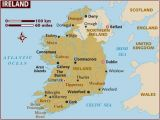 Map Of Ireland Showing Counties and towns Map Of Ireland