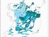 Map Of Ireland Showing Rivers Karst In Ireland
