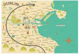 Map Of Ireland to Print Illustrated Map Of Dublin Ireland Travel Art Europe by Alan byrne