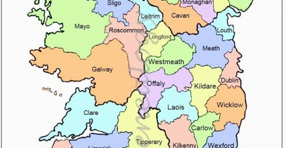 Map Of Ireland towns and Counties Map Of Counties In Ireland This County Map Of Ireland Shows All 32