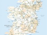 Map Of Ireland with Counties and towns Ireland Road Map