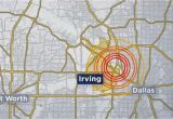 Map Of Irving Texas the United States Geological Survey Says A 2 7 Magnitude Earthquake