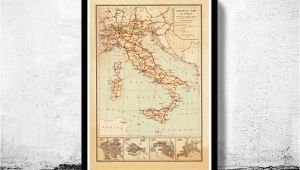 Map Of Italy 1850 Old Map Of Italy touristic Map Italia 1931 In 2019 Art Italy Map