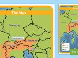Map Of Italy Alps the Alps Map Habitat Mountain Climate Animals Europe