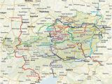 Map Of Italy and Austria Through Austria Along the River Drau Italy Cycling Guide