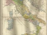 Map Of Italy and Germany 1887 Italien Zur Zeit Kaiser Augustus Alte Landkarte Antique Map