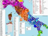 Map Of Italy In Italian Italian Dialects 1792×2048 Click Here for More Maps thelandofmaps