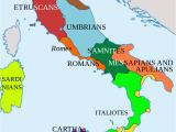 Map Of Italy In Italian Italy In 400 Bc Roman Maps Italy History Roman Empire Italy Map