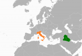 Map Of Italy In the World Iraq Italy Relations Wikipedia