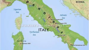 Map Of Italy Mountains Simple Italy Physical Map Mountains Volcanoes Rivers islands