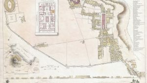 Map Of Italy Pompeii File 1832 S D U K City Plan or Map Of Pompeii Italy Geographicus