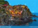 Map Of Italy Showing Cinque Terre Manarola Traditional Typical Italian Village In National Park Cinque