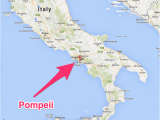 Map Of Italy Showing Pompeii Pompeii Italy Map Pompeii Italia Kart Stuff Pompeii Italy