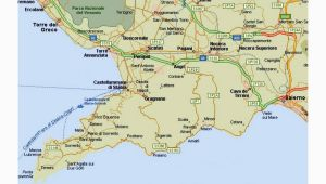 Map Of Italy Showing sorrento Amalfi Coast tourist Map and Travel Information