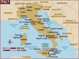 Map Of Italy Showing sorrento Map Of Italy