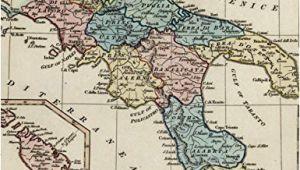 Map Of Italy Sicily and Malta Amazon Com Italy Naples Sicily Malta Goza Inset C 1831 Wilkinson