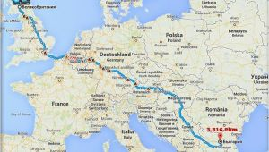 Map Of Italy with Distances Travel to Bulgaria by Car From the Uk the Distance is 3316 2 Km