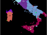 Map Of Italy with Regions and Capitals Languages Of Italy Wikipedia