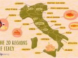 Map Of Italy with Regions and Capitals Map Of the Italian Regions