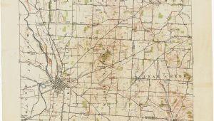 Map Of Jefferson Ohio Map Of Clark County Ohio Ohio Historical topographic Maps Perry